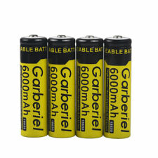4PCS 6000mAh 18650 Rechargeable Battery 3.7v Li-ion BRC Battery For Torch Laser