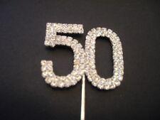 Diamante Number 50 Cake Topper