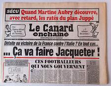 Le Canard Enchaîné 1/07/1998; Dessin de Cabu/ Mondial France-Italie