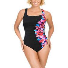 NEW Kirkland Signature by Miraclesuit Ladies' 1 Piece Swimsuit, Black Floral 14