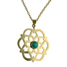 Messing Modeschmuck-Halsketten & -Anhänger aus Stein für Damen