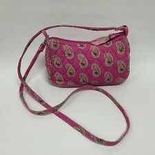 Vera Bradley Cross-body Messenger Handbag Retired Bermuda Pink