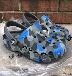 New Crocs Kids Baya Graphic Tie-Dye Clog (Toddler/Little Kid) Pick Size