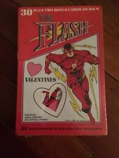 VINTAGE DC THE FLASH 32 PIECE VALENTINE CARDS 1991 SEALED
