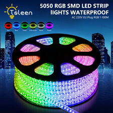 LED Strip Lights RGB Silicone Fairy String Lamp Waterproof 5050SMD1-100m 220V EU
