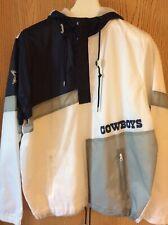 NFL Team Apparel Dallas Cowboys Windbreaker Jacket Half Zip White XL