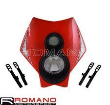 Stunt Bike Headlight Fairing LED Lamp Cowling Kit Red For HONDA Supermoto Bikes
