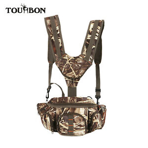 TOURBON Camo Hunting Fanny Pack Shoulder Waist Bag for Outdoor Camping Hiking