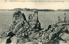 Carte PENVENAN Port Blanc Garrek ar Laër Rocher des Voleurs et l'île St Gildas