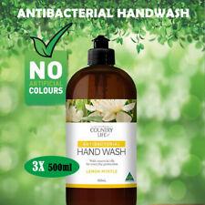 3x Liquid Handwash Hand Wash Soap Deep Cleansing Lemon Myrtle Country AU