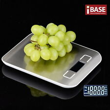 Kitchen Scale 5kg 1g Digital Postal LCD Electronic Weight Scales Food Fruit Silv