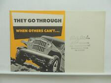 Jeep Dealer Brochure Literature Mitsubishi Super Hurricane Truck Sedan L9085