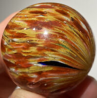 "OUTSTANDING GERMAN Spotty ONIONSKIN Marble W/ MICA 1.42"" Lefty Twist NM+"