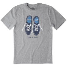 Nwt Mens Life Is Good Short Sleeve Gray Running Runner Shoes Sneakers Med Gray
