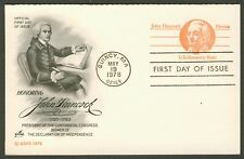 #UY29 John Hancock, Art Craft FDC **ANY 4=FREE SHIPPING**