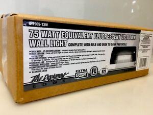 Designers Edge L-1905-13W-BR 13-Watt Fluorescent Wall Up/Down Security Light