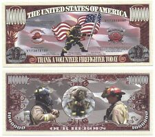 Commemorative Dollar Bill Thank A Volunteer Firefighter Our Heroes