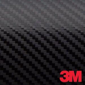 "3M 1080 Black Carbon Fiber Vinyl Car Wrap Film 12""x60"""