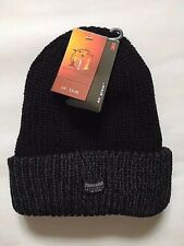 Mens Boys Black Thermal Thinsulate 40 Gram Fleece Lined Winter Beanie Hat