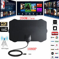 200 Mile Range Indoor Antenna TV Digital HD Skywire Antena Digital HDTV 1080p