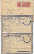ARGENTINA, ENVELOPE 1910 WITH 3 STAMPS X 5C EACH, + 2 TARJETA POSTAL UNUSED    m