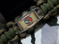 """US Marine Light Attack Helicopter Squadron HMLA-367 """"SCARFACE"""" Paracord Key Fob"""