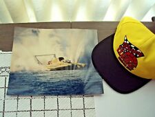 Hydroplane Boat LLumar Lot of Two Items 1  Hat 1 Glossy Boat Photo 8x10 NEW