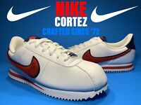 Nike Cortez Leather Fuzzy Swoosh SE White/Red/Blue AA3496-100 Size 5.5y Womens 7