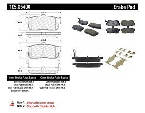 Rr Super Premium Ceramic Brake Pads  Centric Parts  105.05400
