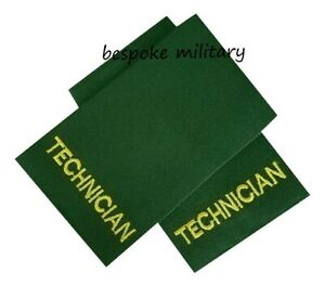 TECHNICIAN EPAULETTES/SLIDERS  - MEDICAL/FIRST AID/EMT SLIDES (HIGH QUALITY) NEW