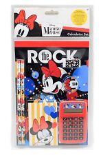 Disney Minnie Mouse Memorabilia  Calculator Set Pencils Erasers Sharpeners Pads