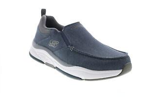 Skechers Benago Stockton 210097 Mens Blue Canvas Lifestyle Sneakers Shoes