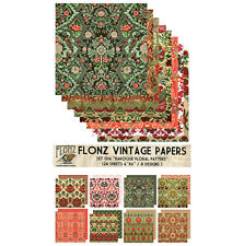 "Paper 24sh 6""x6"" # Vintage Damask Baroque Pattern # FLONZ Craft Scrapbooking 006"
