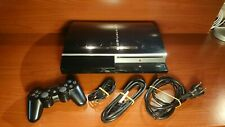 1337 Sony Playstation 3 80GB Piano Black Console CECHL04 + accessories PS3