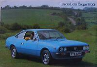 Lancia Beta Coupe Series 2 1300 1977-78 Original UK Market Sales Brochure