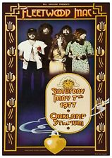 More details for fleetwood mac oakland stadium 1977 concert poster reproduction day on the green