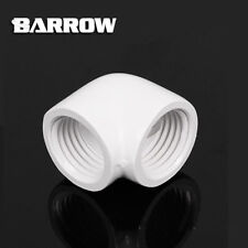 "Barrow G1/4"" White 90 Degree Dual Female Fitting Adapter - 306"