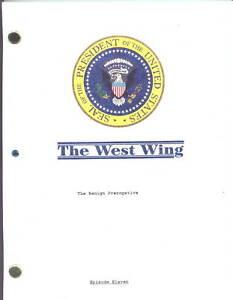 "THE WEST WING show script ""The Benign Prerogative"""