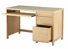 Alphason 'Hunter' Real Oak Veneer Desk / Workstation - Ideal for Computer Use