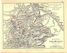 Map - Battle of Salamanca 22 July 1812 - Napoleonic Wars