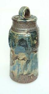 Cynthia Bringle Studio Pottery Lidded Jar Penland North Carolina 14 1/2 Inches