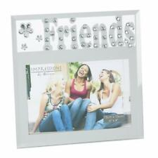 """Friends Photo Frame Mirror Glass & Crystal Design 4 x 6"""" Boxed Gift FG582FR"""