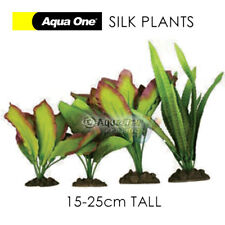 4 Pack AQUARIUM SILK PLANTS Artificial Fish DECOR Soft Plastic Decoration 24243