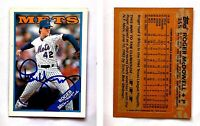 Roger McDowell Signed 1988 Topps #355 Card New York Mets Auto Autograph