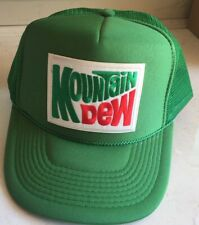 Vintage style MOUNTAIN DEW Green Trucker Cap Hat retro 1970s 80s patch