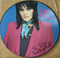 EX! JOAN JETT AND THE BLACKHEARTS I LOVE ROCK N ROLL VINYL LP PICTURE PIC DISC