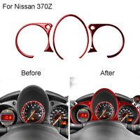 For Nissan 370Z 2009-2020 Red Carbon Fiber Instrument Cluster Panel Cover Trim