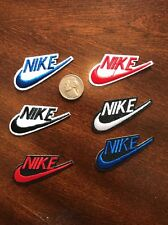 """(6) Nike Black iron on PATCH -  patches new  Appx  2"""" X  1"""" Lot"""