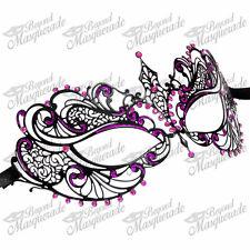 Women Extravagant Luxury Venetian Masquerade Mask Purple Rhinestone and Glitter