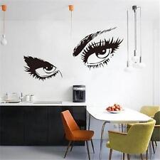 Beautiful Eyes Big Sticker Eye Lashes Wink Decor Wall Beauty Art Mural Decals US